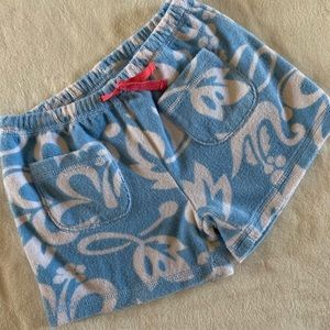 VGUC girls Mini Boden toweling Shorts Sz8